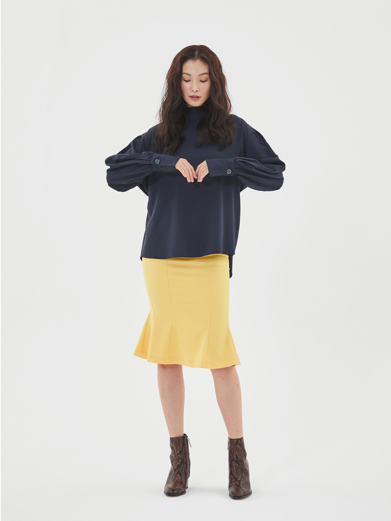 [Clearance Sale 60%Off]Wave Mermaid Skirt in Yellow