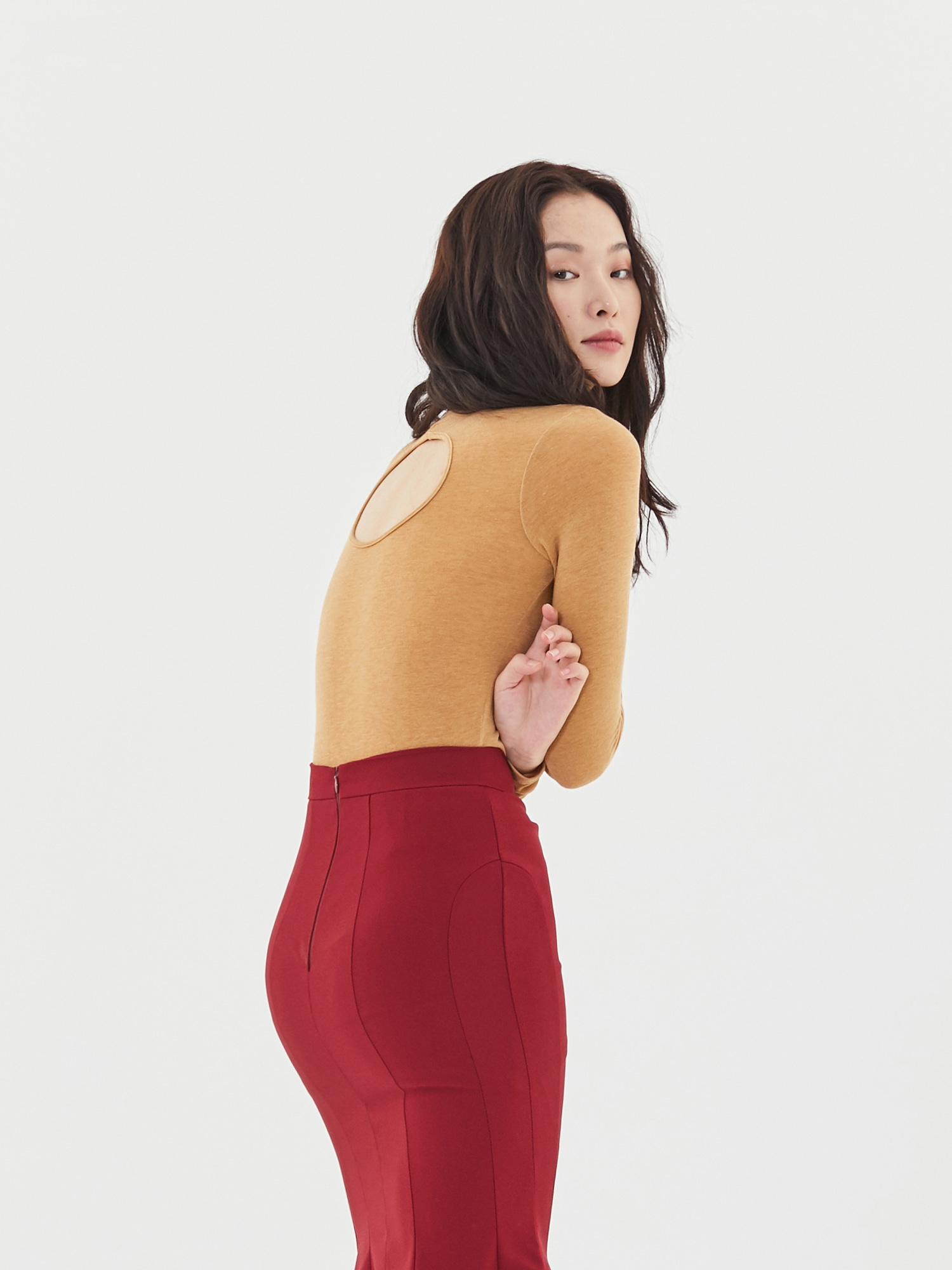 [Clearance Sale 50%Off]Back Hole Turtleneck(3color)