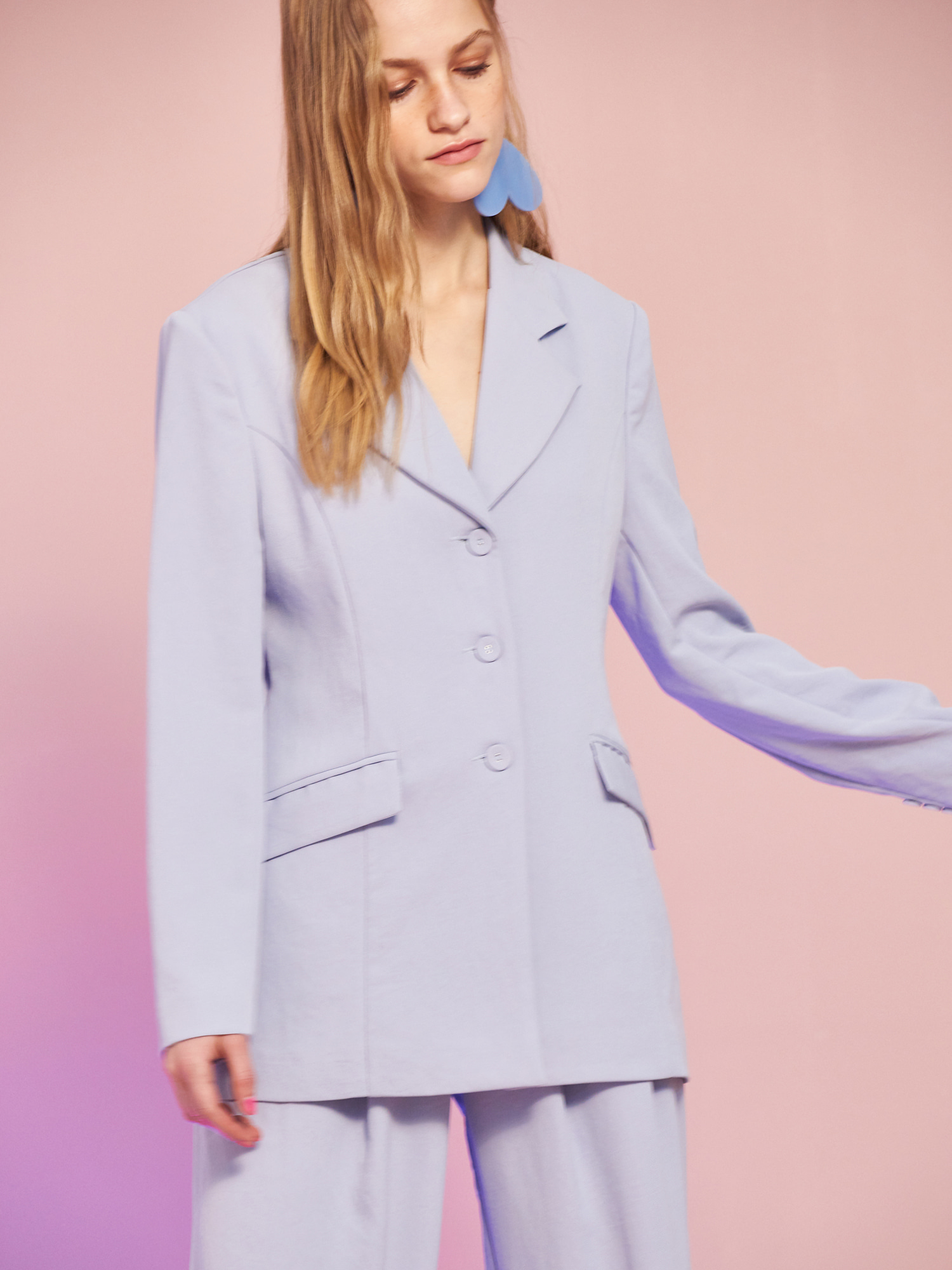 [MID SALE 40% 교환 및 반품불가]Minimal Jacket in Sky Blue