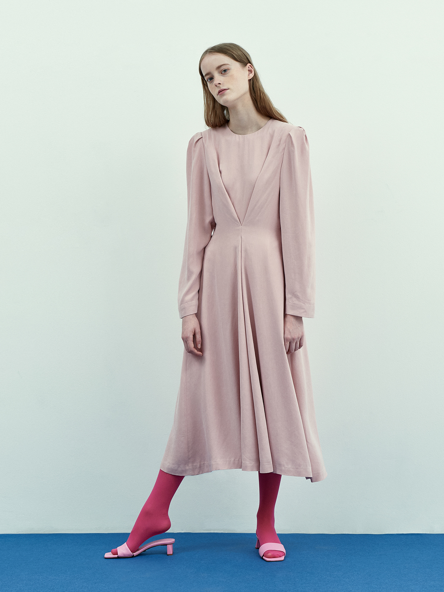Stella Cupra Dress in Pink