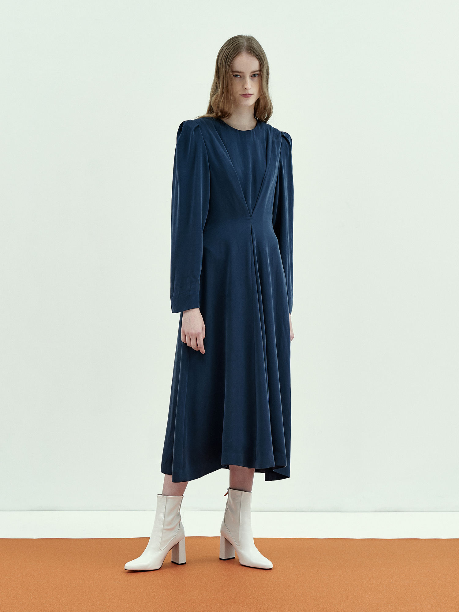 [Season Off Sale 30%Off]Stella Cupra Dress in Navy