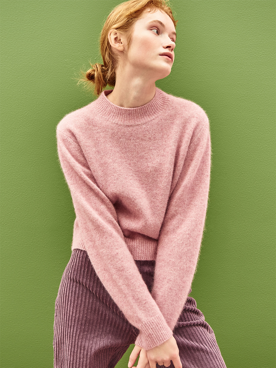 Soft Raccoon Sweater in Pink