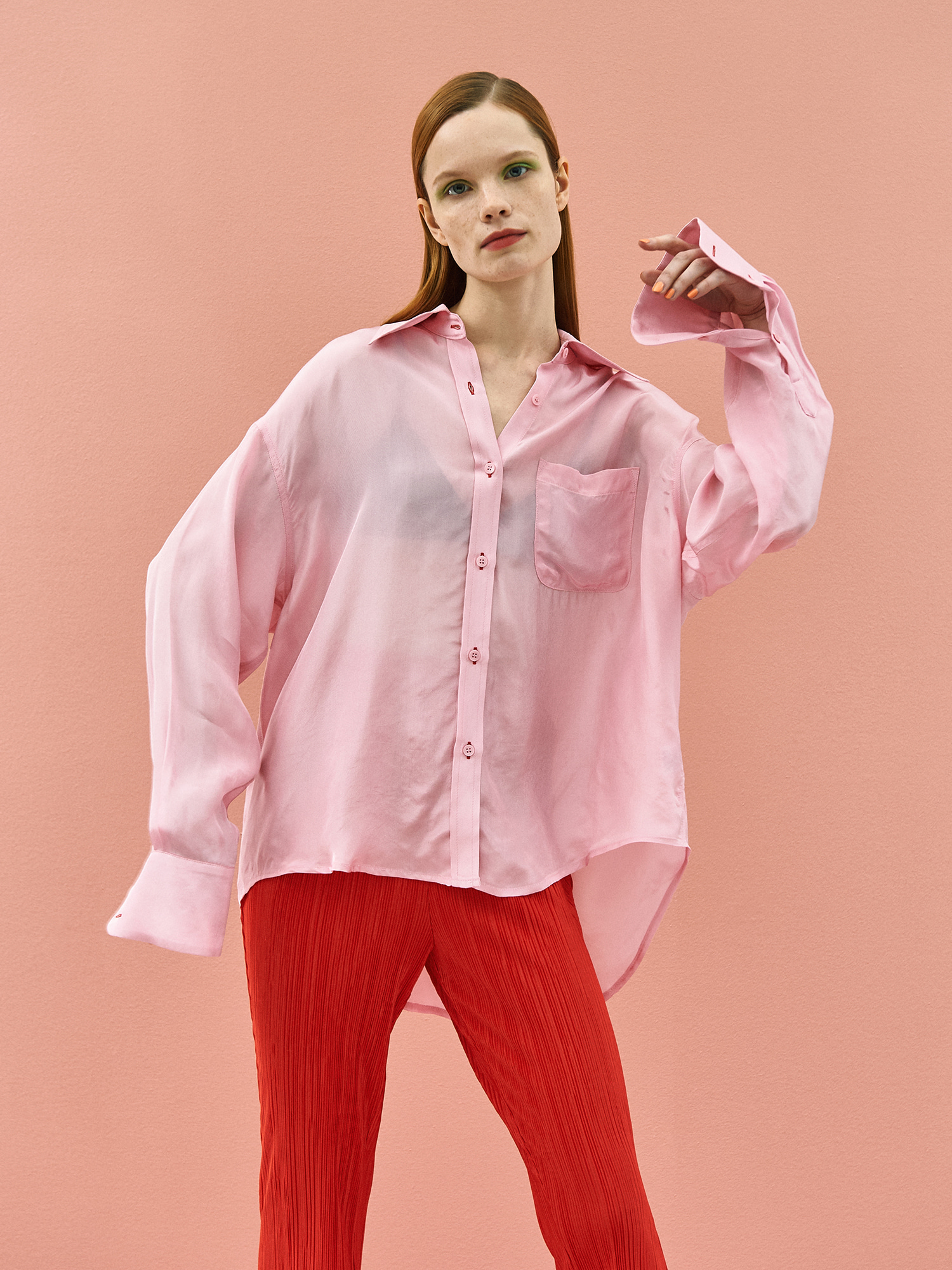 Shining Color Shirt in Pink