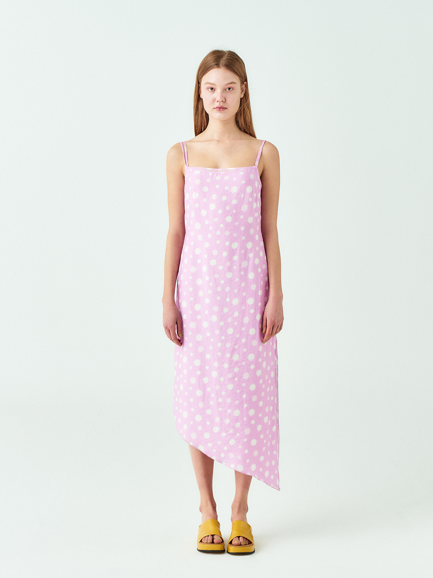 Water Drop Slip Dress In Pink