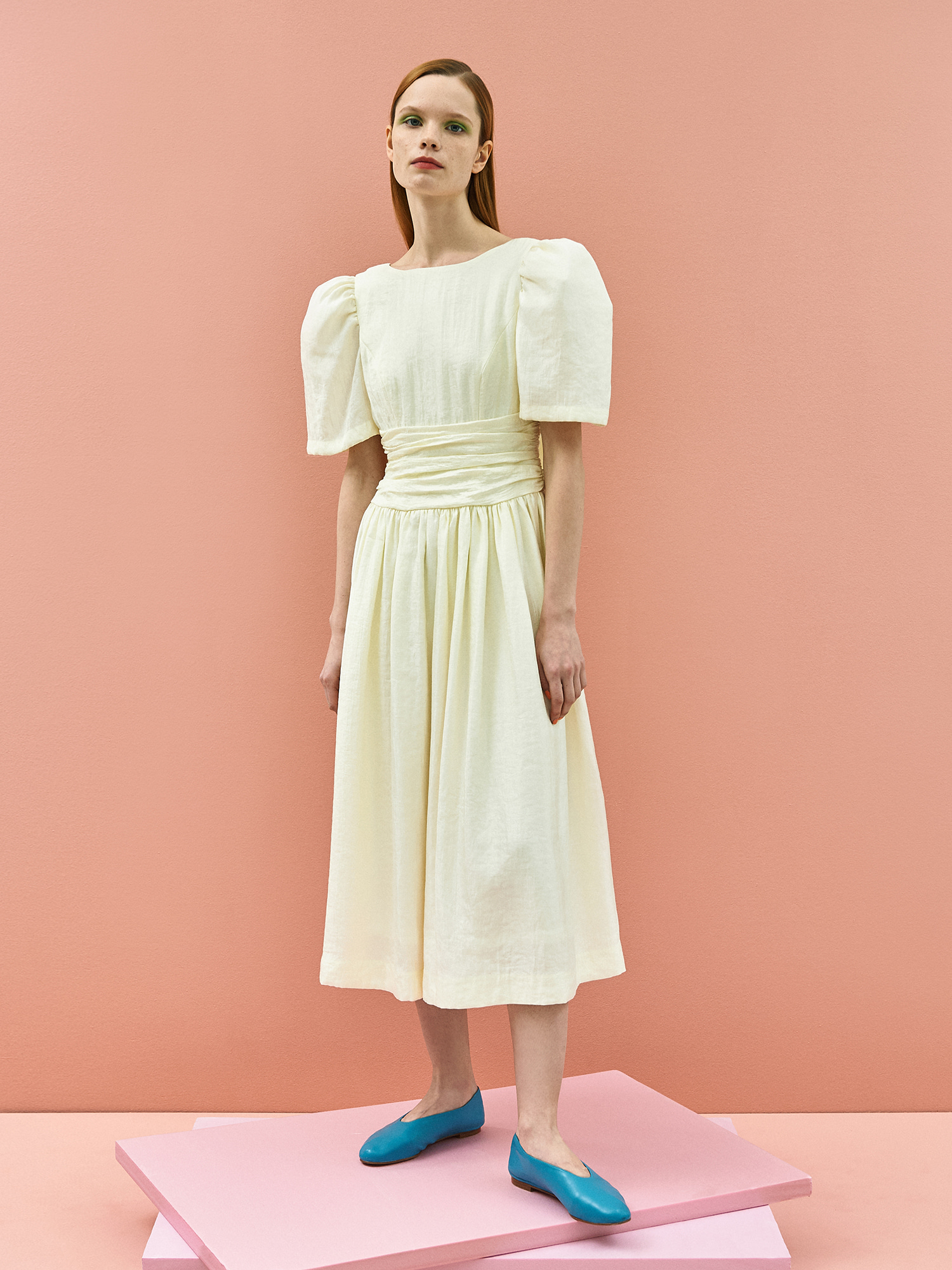 [미드세일 40%할인]Retro Ribbon Dress in Cream