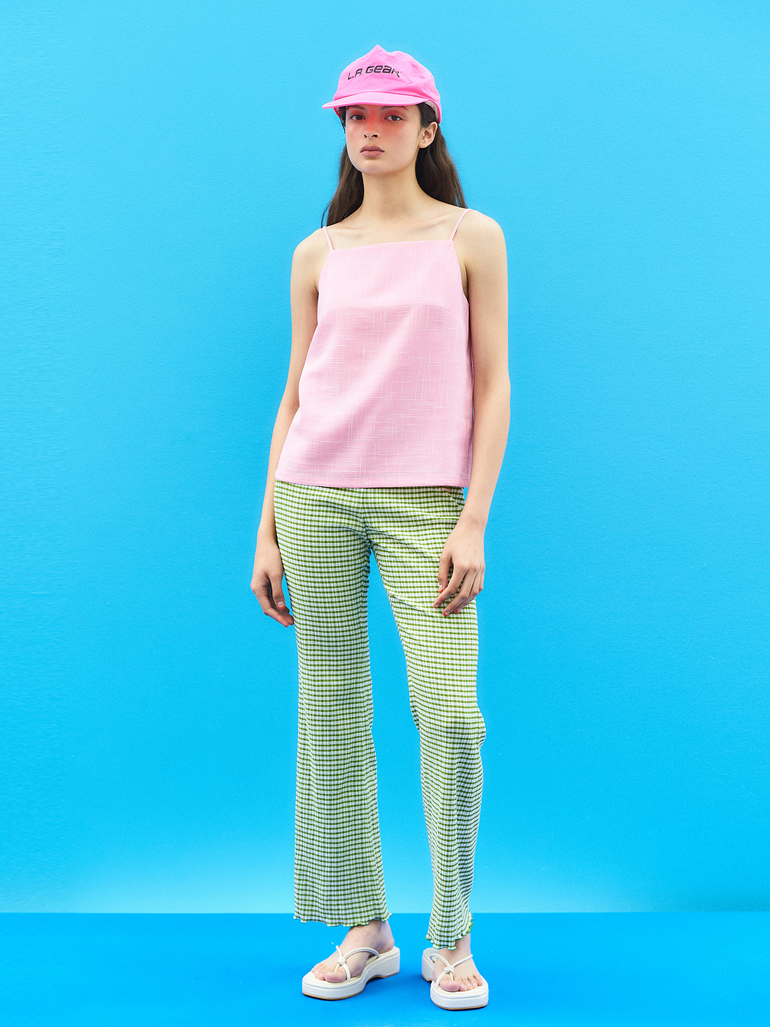 Gingham Check Banding Pants(5col)
