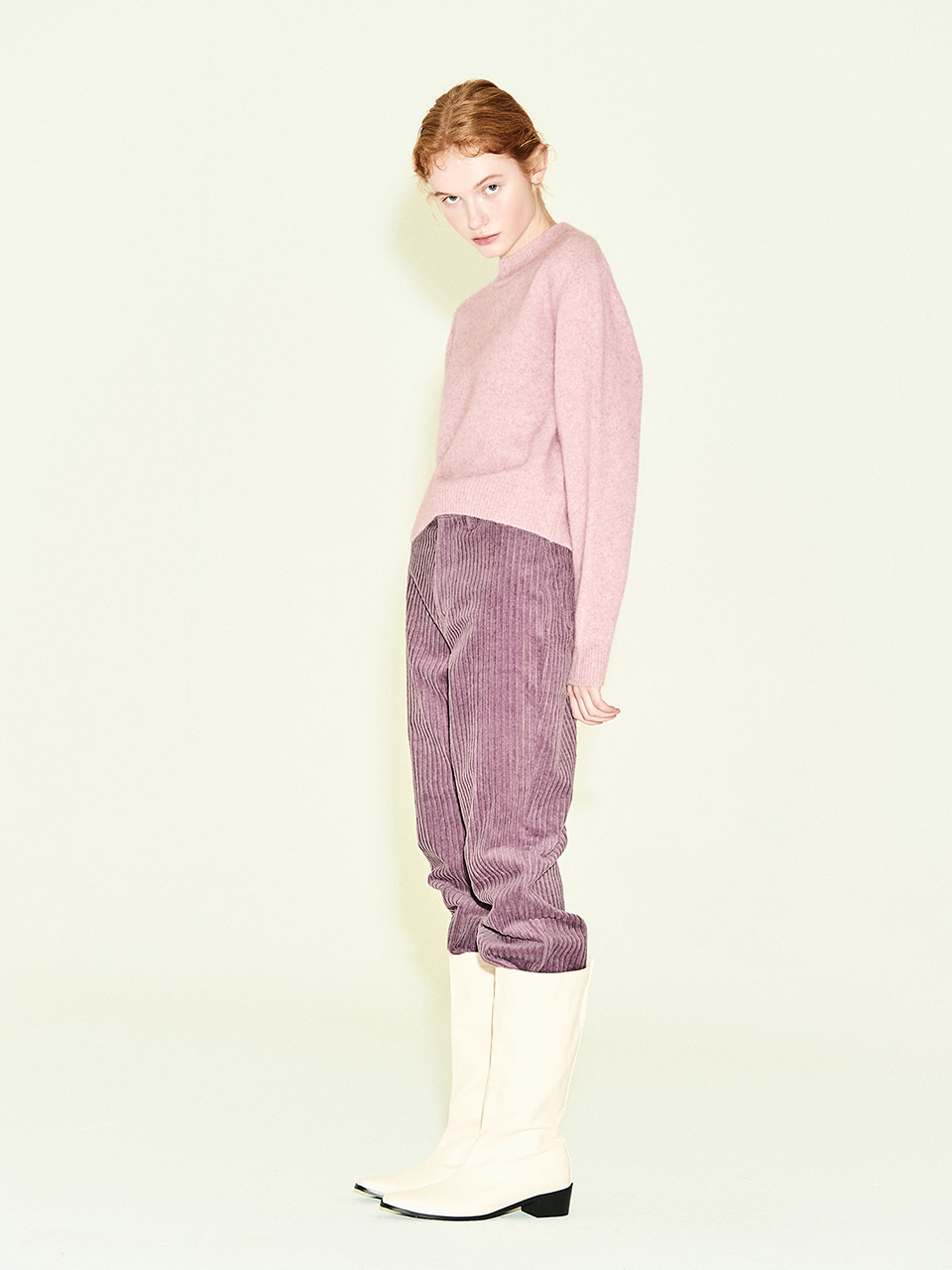 Corduroy Straight Pant in Lavender