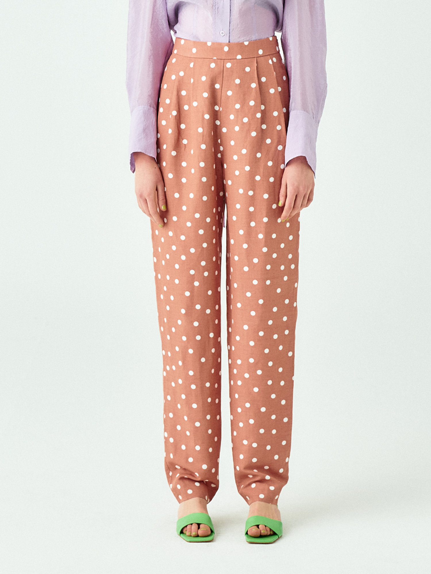[시즌오프20%SALE] Tuck Pants in Dot