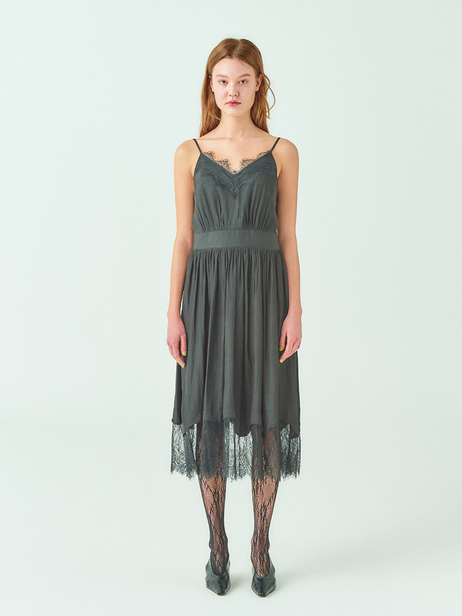 [시즌오프30%SALE] Black Lace Slip Dress