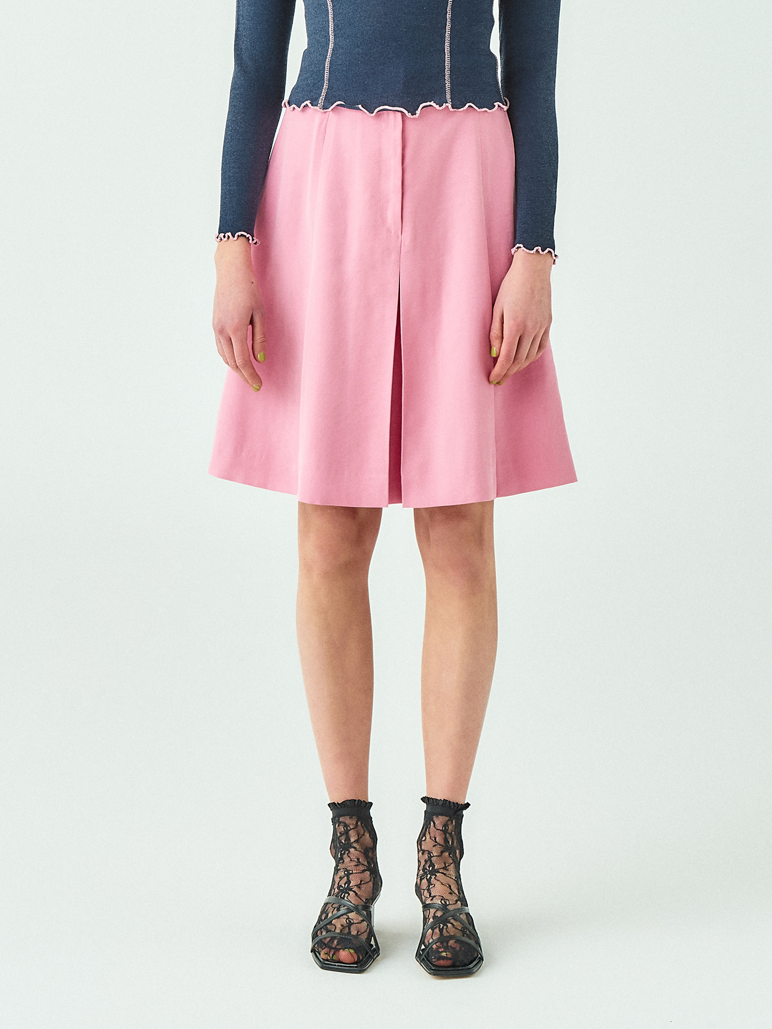 [시즌오프20%SALE] Pink Pleats Skirt