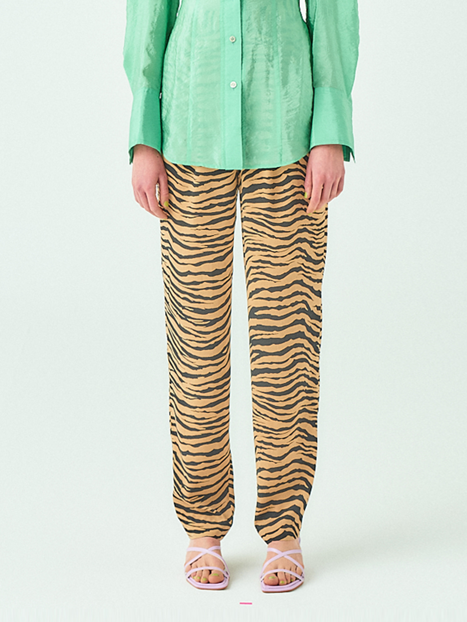 [시즌오프20%SALE] Tuck Pants in Zebra